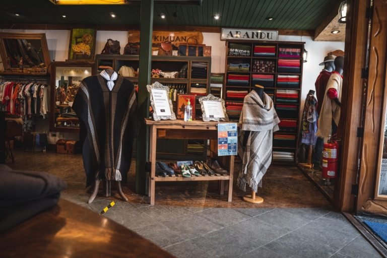 ponchos - are - common - fashion - in - patagonia