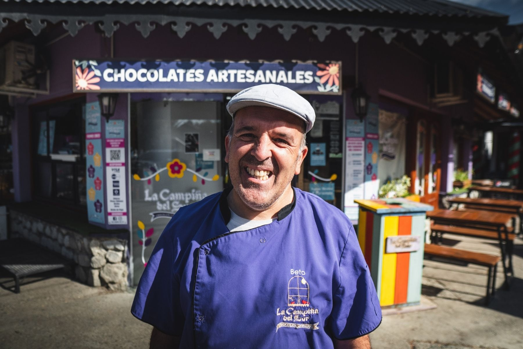 beto - is - the - owner - of - a - shop - in - patagonia - that - sells - ice -cream - and -choclate